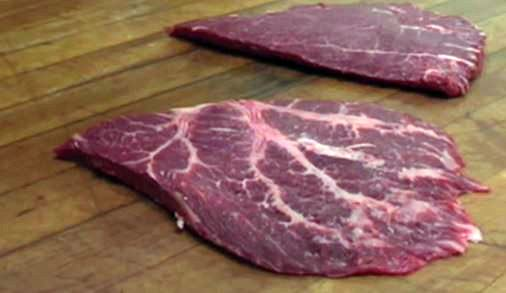 Picture Of Flat Iron Steak (via: The Healthy Butcher)